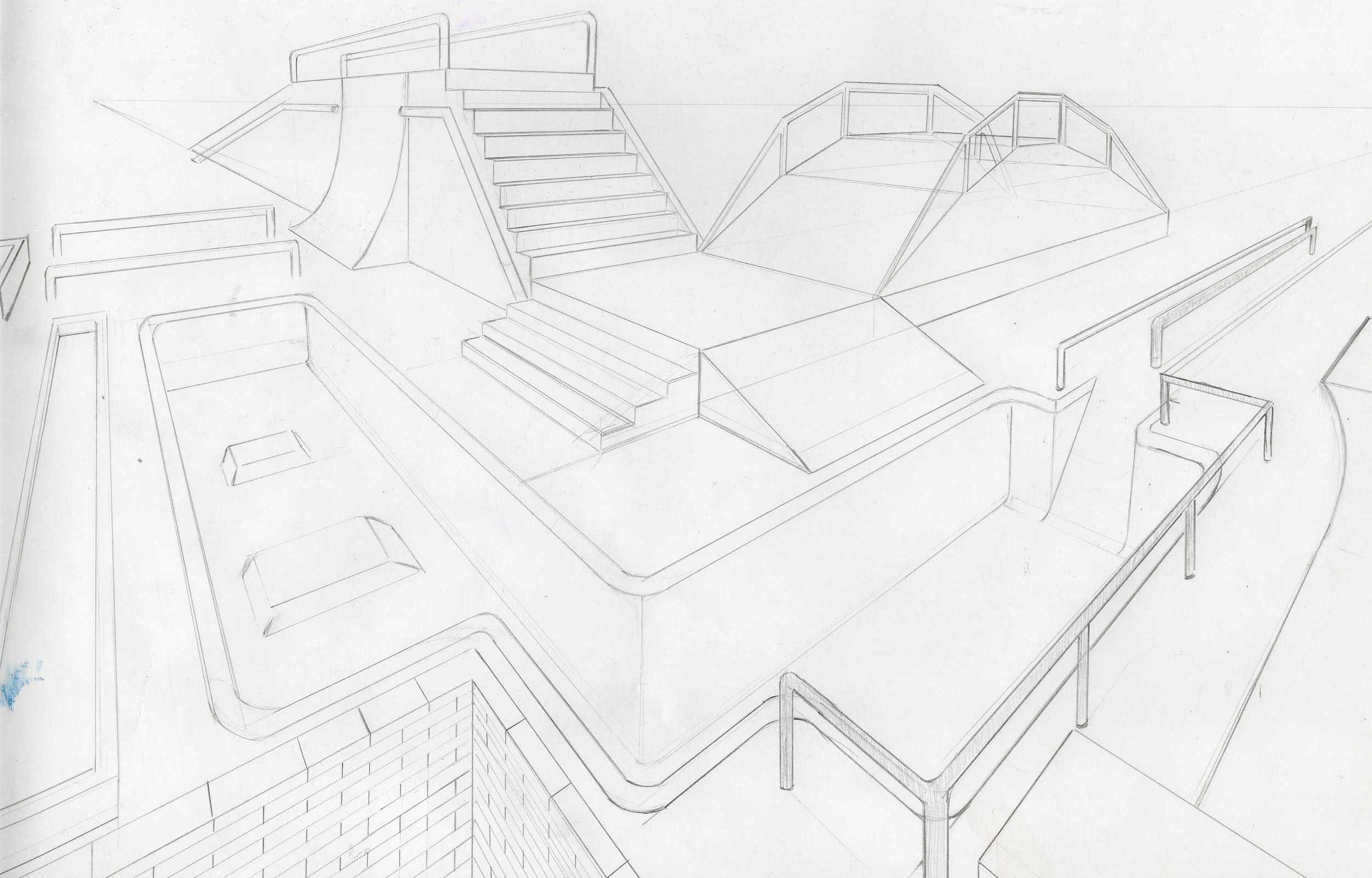How To Draw Skate Parks