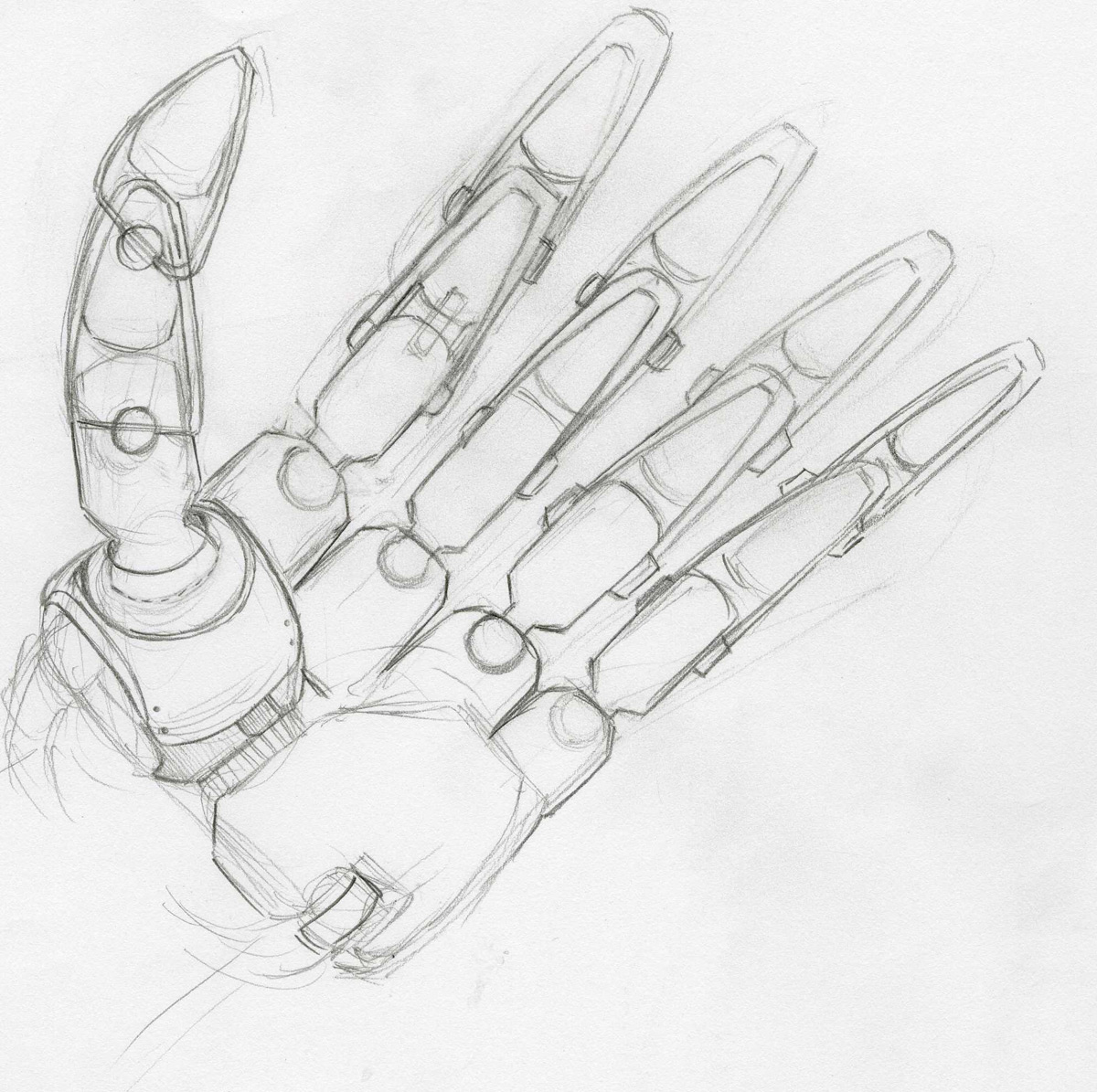 Mechanical hand art - photo#13